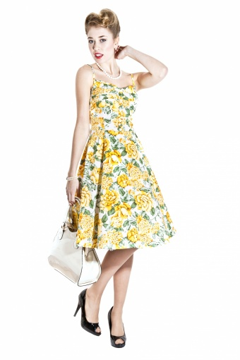 SS130811B - Fairy Summer Bouquet Print Doll Dress