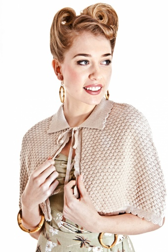 SS130113 - Millie Cape Beige