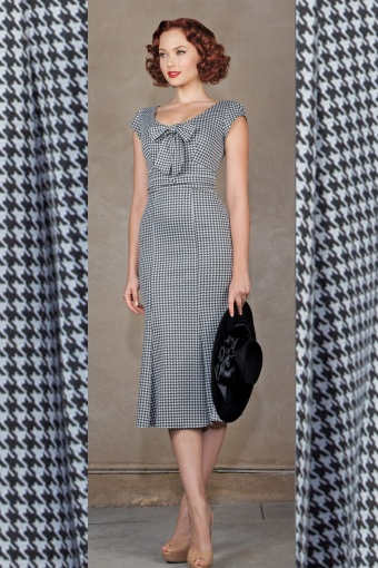 Stop starring dress houndstooth
