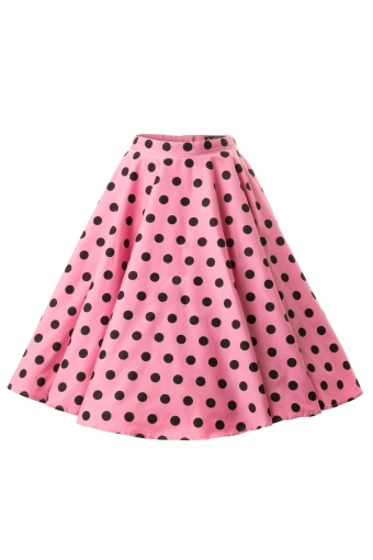 Bunny 50s Adelaide Swing Skirt in Pink Polkadots_52-4949_20130426_0005