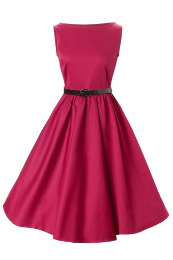 Lindy Bop 1950's Audrey Hepburn style swing party rockabilly evening Raspberry vintage dress_44-4457_20120806_007