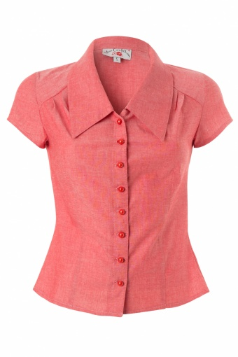 Miss Candyfloss Avalon Blouse in Red Melange_42-4990_20130514_0009