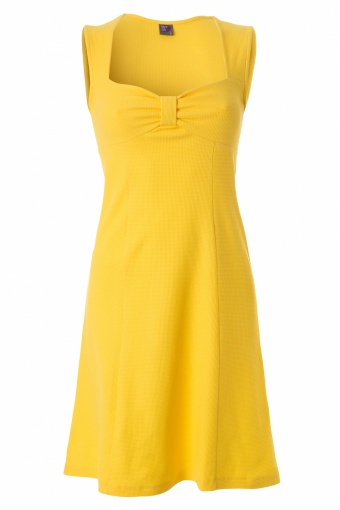 Wow To Go! 60s A Line Dress Zee in Yellow waffle cotton_44-4994_20130514_0003