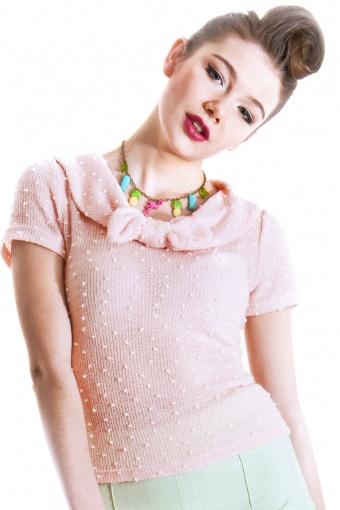 SS130411A - Jane Bouclé Top Pink