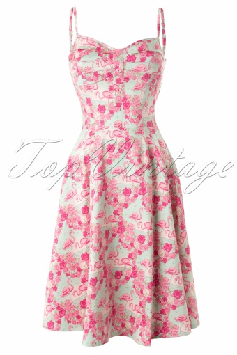 Collectif Clothing Fairy Flamingo Dress Blue and Pink_44-4999_20130515_0002W