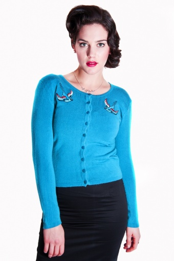 Jo Cardigan Bluebird Blue