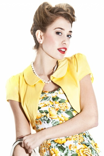 Elizabeth Bolero Plain Yellow