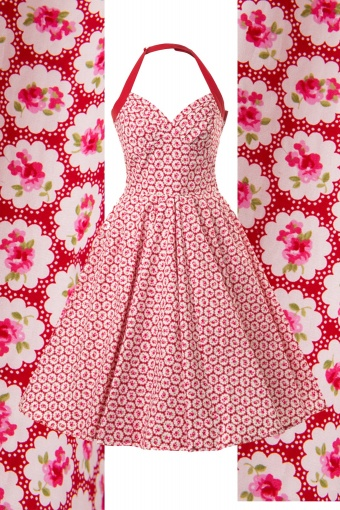 Front 50s Nina Rose Halter Swing dress