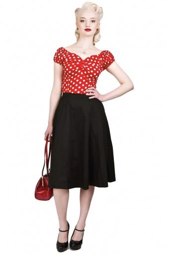 Melody Skirt Plain Black