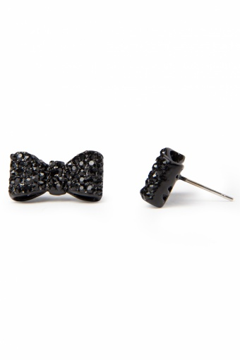 Collectif Clothing Sparkling Diamante Bow Studs Black _77-4937_20130607_0006