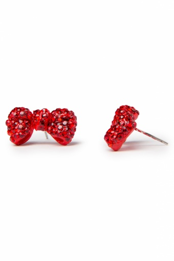 Collectif Clothing Sparkling Diamante Bow Studs Red _77-4938_20130607_0002