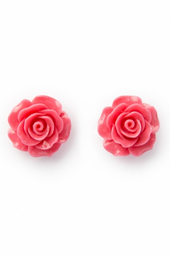 Collectif Clothing 50s English Rose Earstuds Flamingo Pink_77-5031_20130607_0002