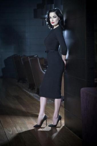 60s Joanie Dress Mad Men In Black Ponte De Roma Knit By Laura Byrnes