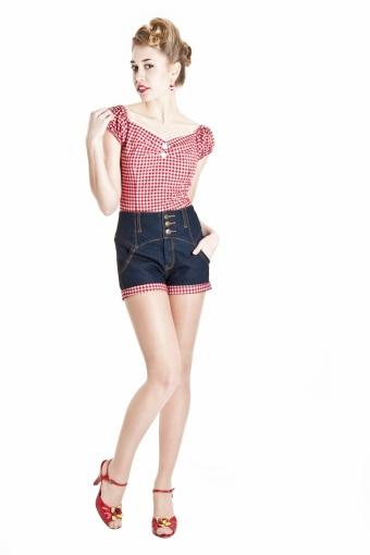Rebel Kate Gingham Shorts