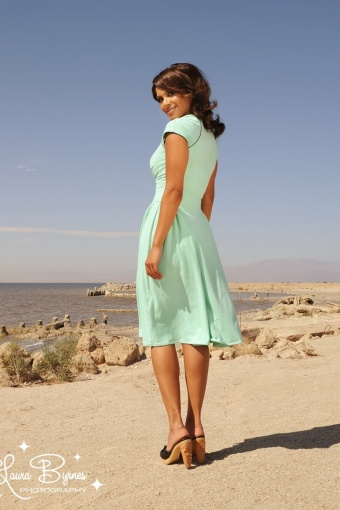 the dress in mint with mira the mermaid