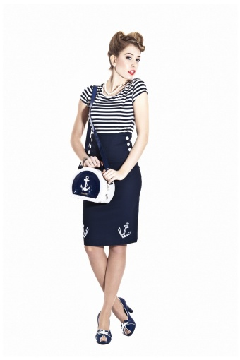 Ahoy Skirt Sailor NavyBW