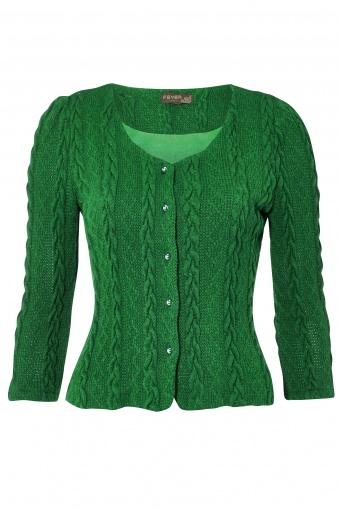 AW13 Bray Cardigan Emerald front