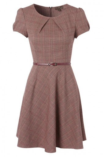 AW12 Erika dress tartan front