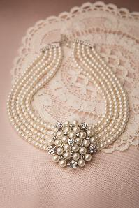 Audrey Cream Pearl Choker Necklace