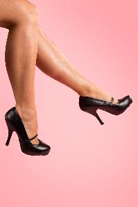 40s Cutiepie Mary Jane Black platform pumps