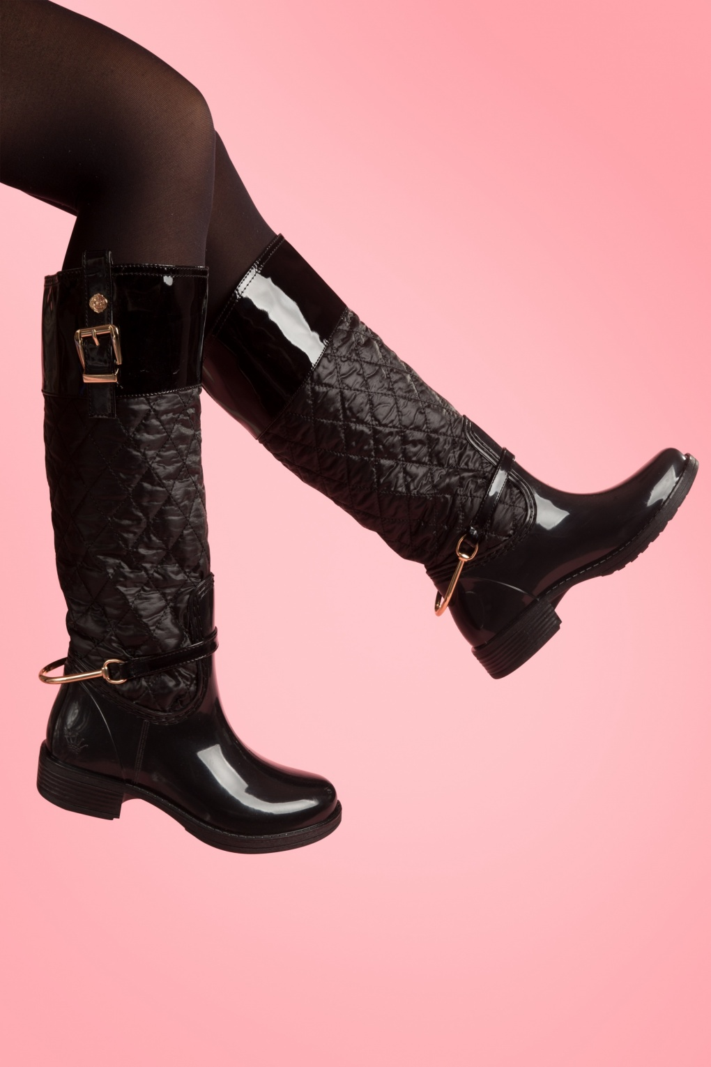 Black Quilted Ordella Boots