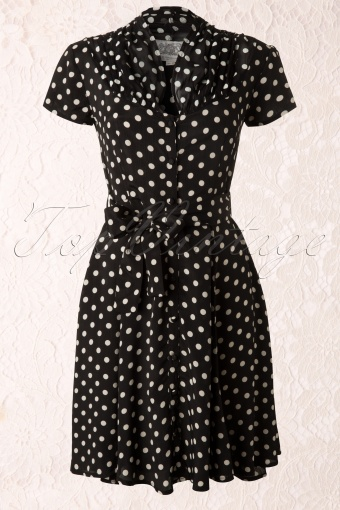 The Seamstress of Bloomsbury Paula Dress Black spot Polkadot 104 14 11869 20131112 0003K