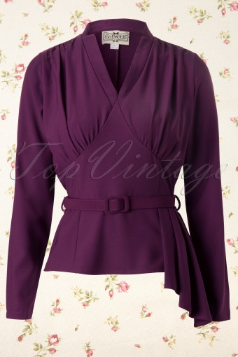 Collectif Clothing  Veronique Top Purple 110 60 11913 20131120 0003K