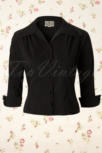 Collectif Clothing  Megan Blouse Black 112 10 11911 20131122 0004K