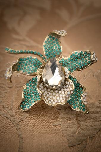 Foxy  Bronze Lily Broche Hairclip 340 91 11952 20131122 0004W