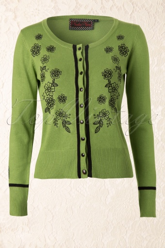Vixen  Harriet Cardigan Green Flowers 140 40 11926 20131126 0002K