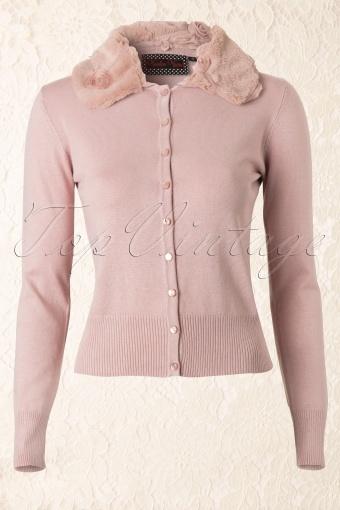 Vixen  Edith Cardigan Vintage Pink 140 22 11924 20131126 0010K