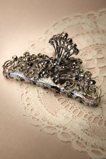 Foxy  Pewter Jaw Hairclip 208 92 11949 20131128 0002W