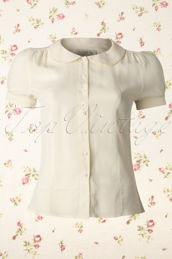 Seamstress of Bloomsbury  Jive Blouse Cream 112 51 11859 20131114 0002K