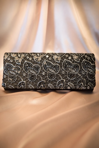 Darling Devine  Black and silver clutch 210 14 11352 20131203 0020W