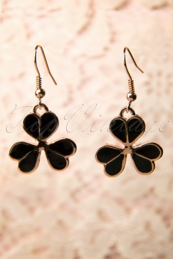 From Paris with Love!  Black Clover Earrings 77 5266 20131204 0003W