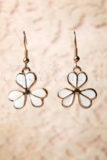 From Paris with Love!  White Clover Earrings 77 5263 20131204 0006W