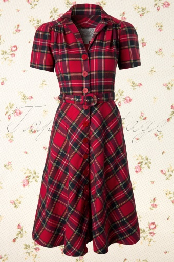 Seamstress of Bloomsbury  Lisa Tartan Red 104 27 11974 20131204 0003K
