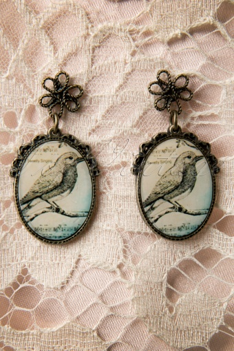 Collectif Clothing  Vintage Bird Earrings 334 91 11743 20131204 0001W