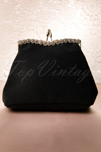 Collectif Clothing  Carrie Evening Flower Clutch Black 212 10 11991 20131211 0005W