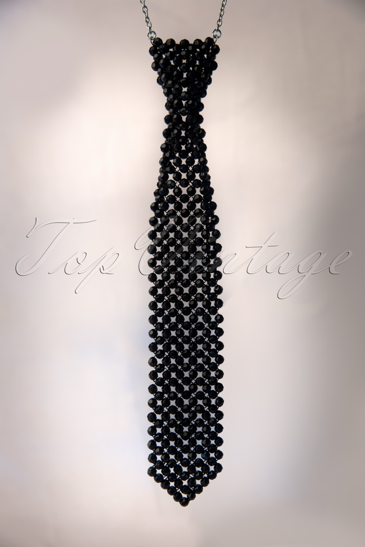 Nola Noir Pearl Tie Necklace