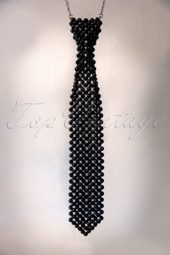 Darling Divine  Black Tie Necklace 302 10 11357 20131205 0007W