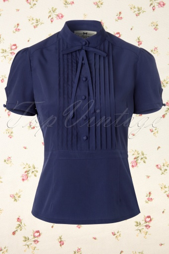 Collectif Clothing  Eliza Blouse Blue 112 31 11986 20131211 0002K