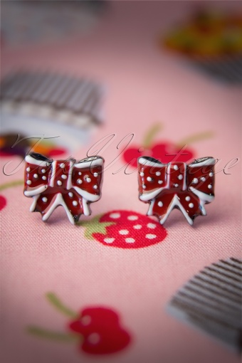 Sourpuss  Red Bow Earrings 330 20 11800 20131218 0005W