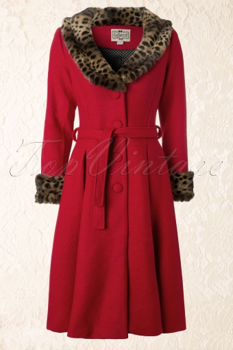Collectif Clothing  Ashley Coat Red 152 20 12077 20131219 0009K