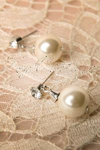 Collectif Clothing  Pearl and diamond earrings 339 50 12087 20131220 0011W