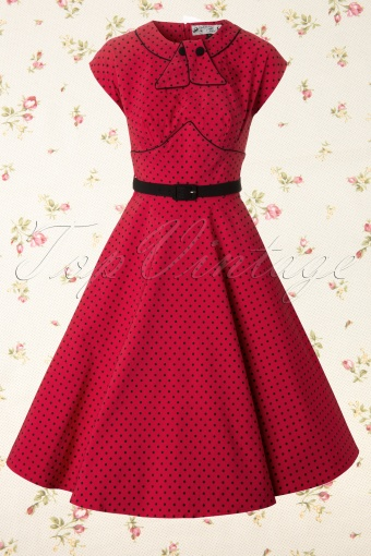 Bunny  Noreen Dress Swing Red Black Polkadot 106 27 12100 20140106 0004W