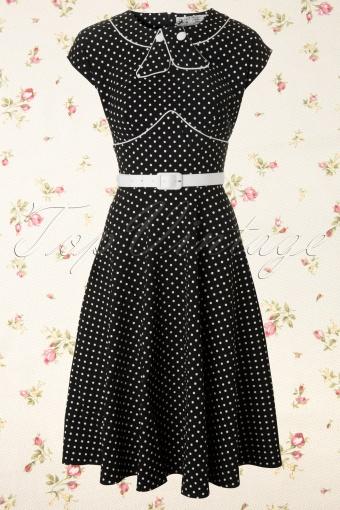Bunny  Noreen Dress Swing Black White Polkadot 106 14 12099 20140106 0011W