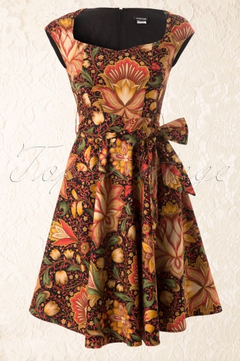 Retrolicious 50s Vintage Oriental Flower Swing Dress 44 4985 20130515 0003W