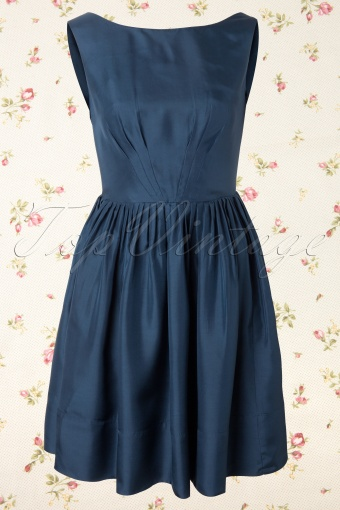 Emily and Fin  Abigail dress blue silk 105 30 12115 20140110 0003W
