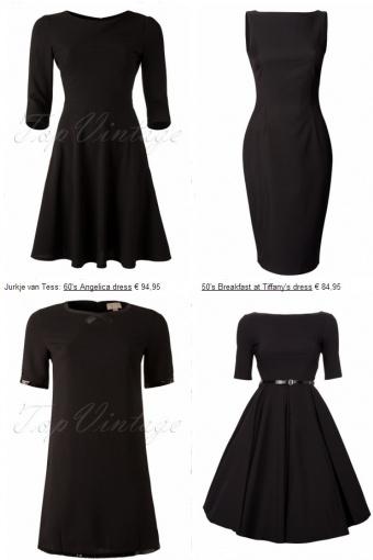 50s Breakfast at Tiffany\'s Dress black
